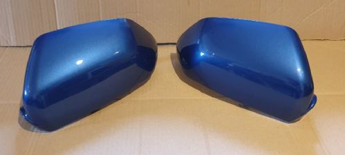 VW POLO 2005 - 2009 PAIR OF WING MIRROR COVERS IN OLYMPIAN BLUE